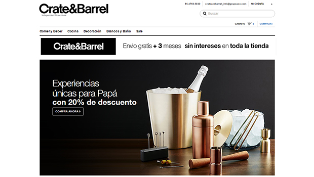 Crate And Barrel: opiniones y comentario