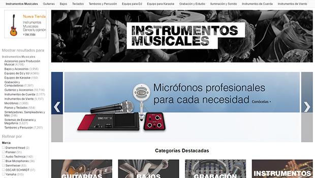 Amazon México presenta tienda de instrumentos musicales