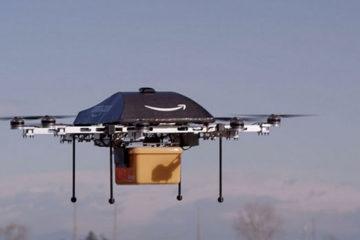 """Amazon patenta """"centro de cumplimiento aéreo"""" para drones"""