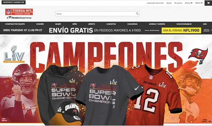 Tienda online NFL